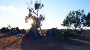 kamperen in de outback van Australië