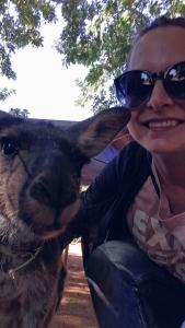 Kangaroo selfie Australia