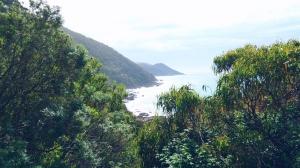 Uitzicht langs de Great Ocean Road