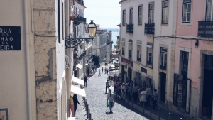 Streets of Alfama Lisbon