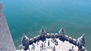 Looking down from Torre de Belém Lisbon